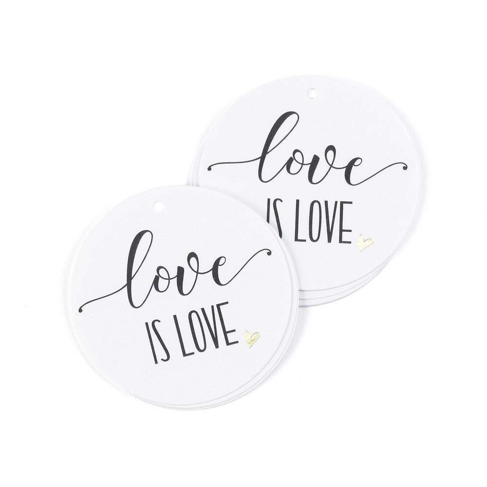 Hortense B. Hetwitt 25ct 'Love is Love' Favor Boxes White