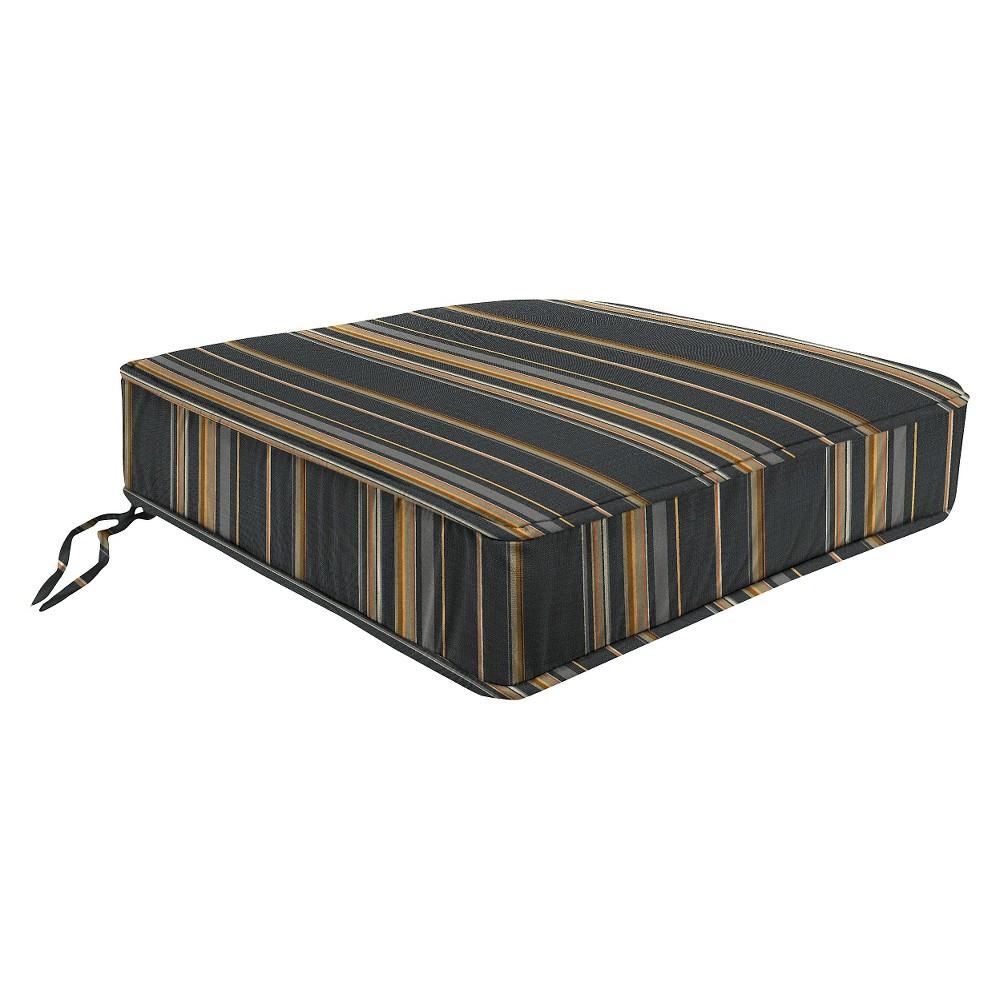 Jordan Boxed Edge Seat Cushion - Charcoal (Grey)