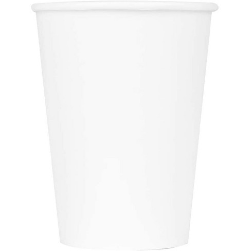 Karat C-K512W 12 Ounce Poly Lined Sturdy Sweat Resistant High Quality Recyclable Paper Hot Cups for Coffee, Tea, and Hot Chocolate, White (1000 Pack) - image 1 of 4