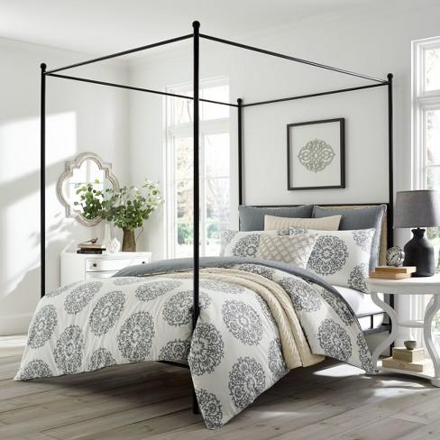 Gray Bristol Comforter Set Stone, Target Gray Bedding Sets