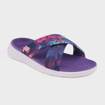 b34812870208 Girls Malvina Crossband Slide Sandals – C9 Champion® Purple M ...