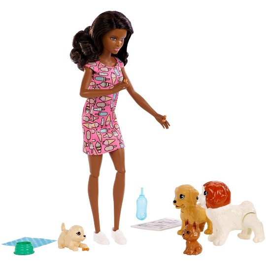 Barbie Doggy Daycare Nikki Doll & Pet image number null