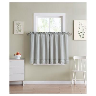 Jenna Kitchen Curtain Tier Gray (60 x36 )- VCNY Home®