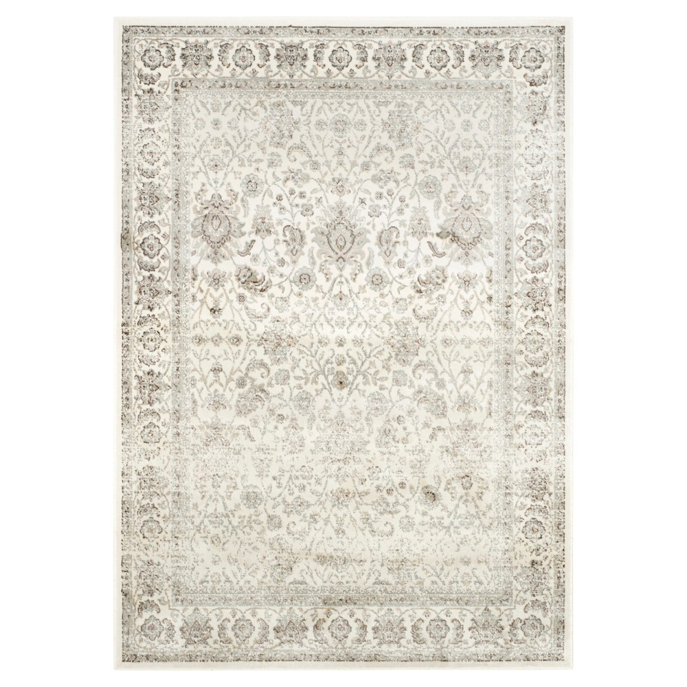 Ivory/Silver Abstract Loomed Accent Rug - (4'X5'7) - Safavieh