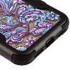 MYBAT For Apple iPhone X/XS Purple European Flowers Tuff Vivid Hard Hybrid Case Cover - image 2 of 2