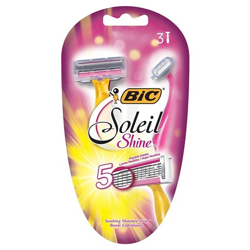 BIC® Soliel Shine™ Women's 5 Blade Disposable Razor - 3 ct - image 1 of 3