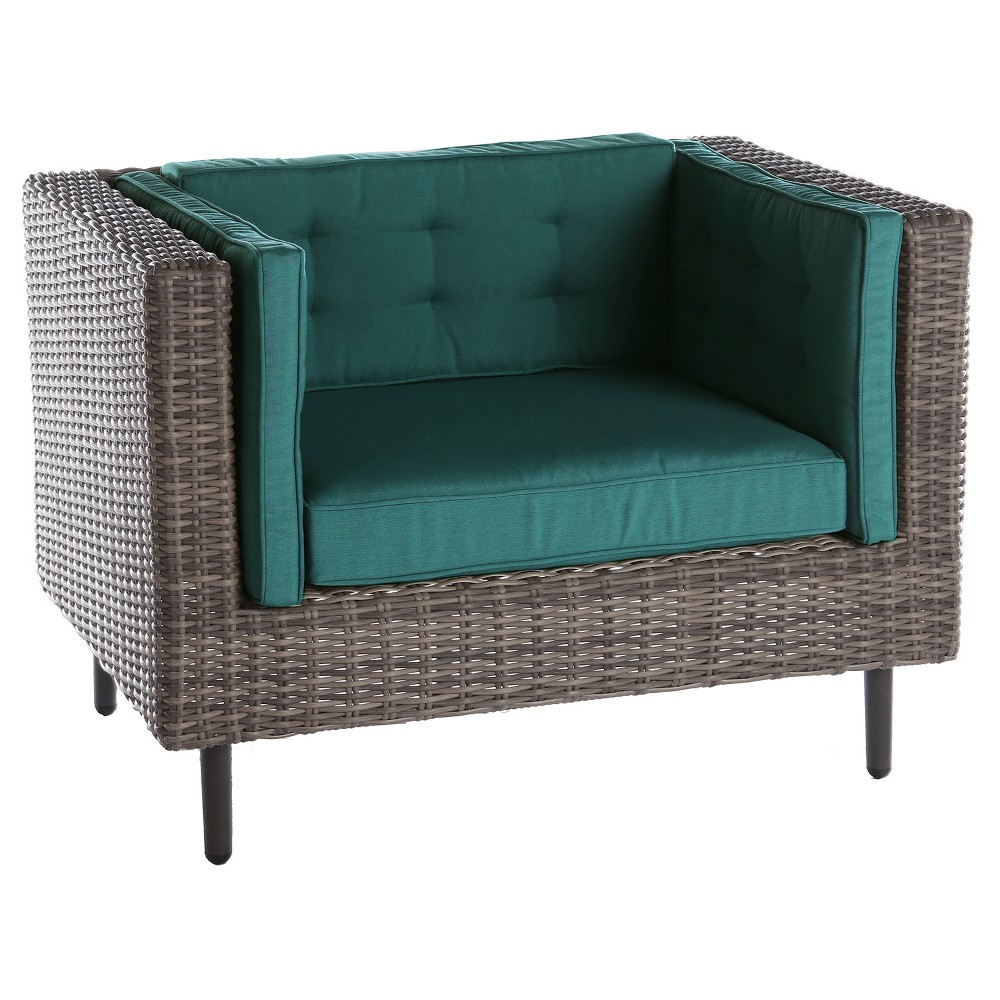 Image of 1pc Aimee Single Arm Chair Spectrum Peacock - AE Outdoor