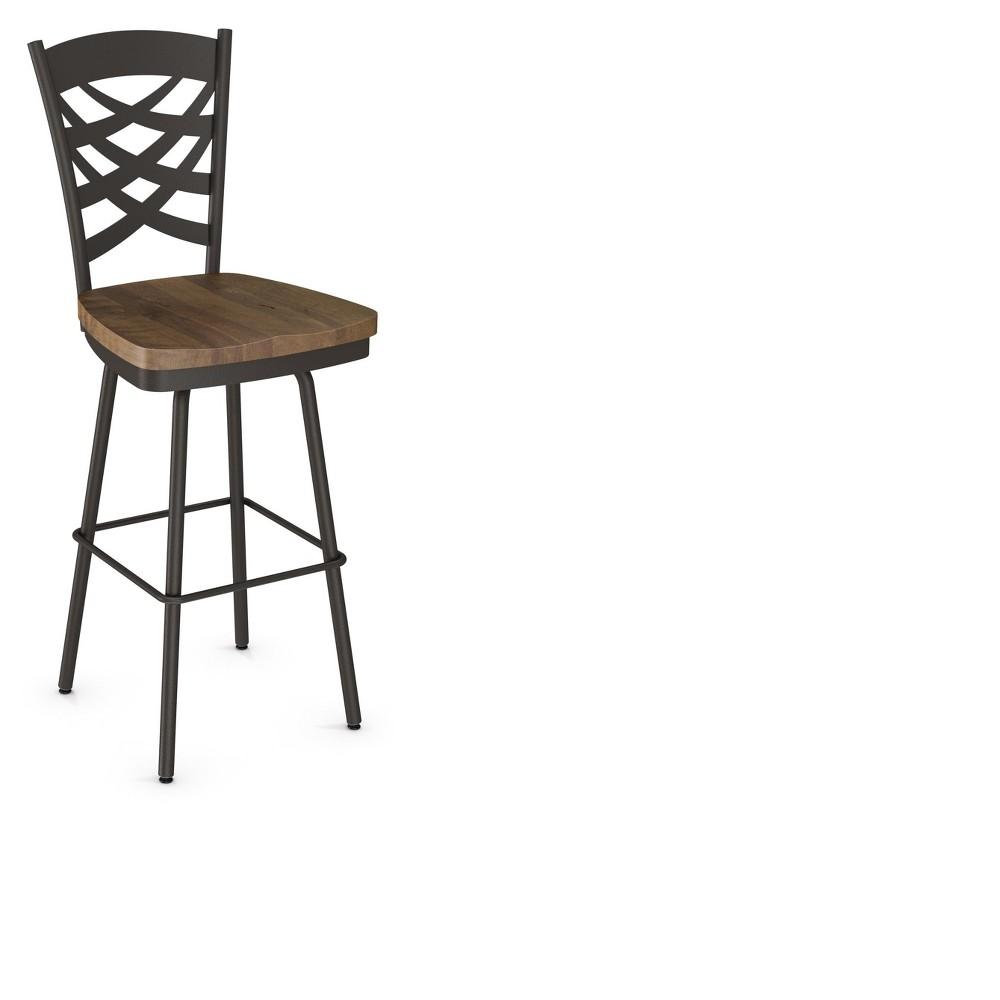 Fabulous Weaver Swivel 304 Barstool Brown Amisco Creativecarmelina Interior Chair Design Creativecarmelinacom