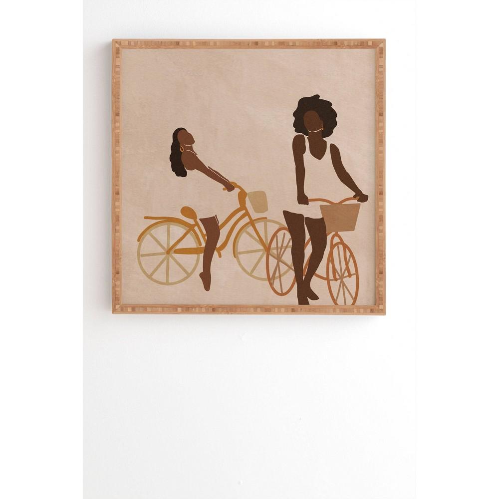 30 34 X 30 34 Nawaalillustrations Sunday Morning Minimal Framed Wall Art Bamboo Deny Designs