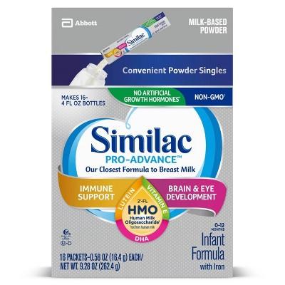 Similac Pro-Advance Non-GMO Infant Formula with Iron Powder - 9.28oz Total
