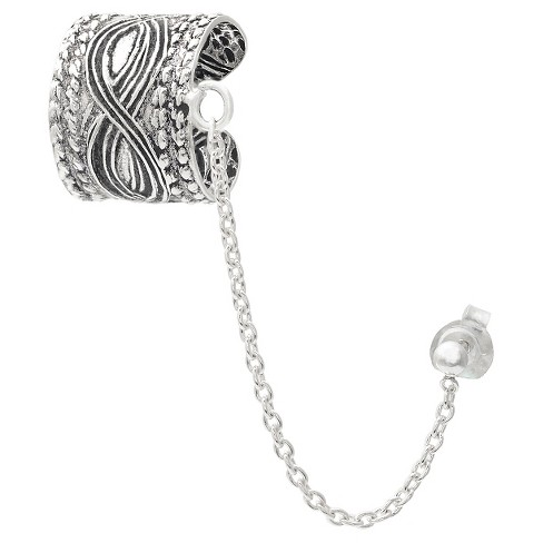 Women's Journee Collection Chain Earcuff in Sterling Silver - image 1 of 2