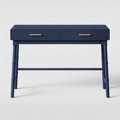 Oslari Wood Writing Desk with Drawers Blue - Opalhouse™