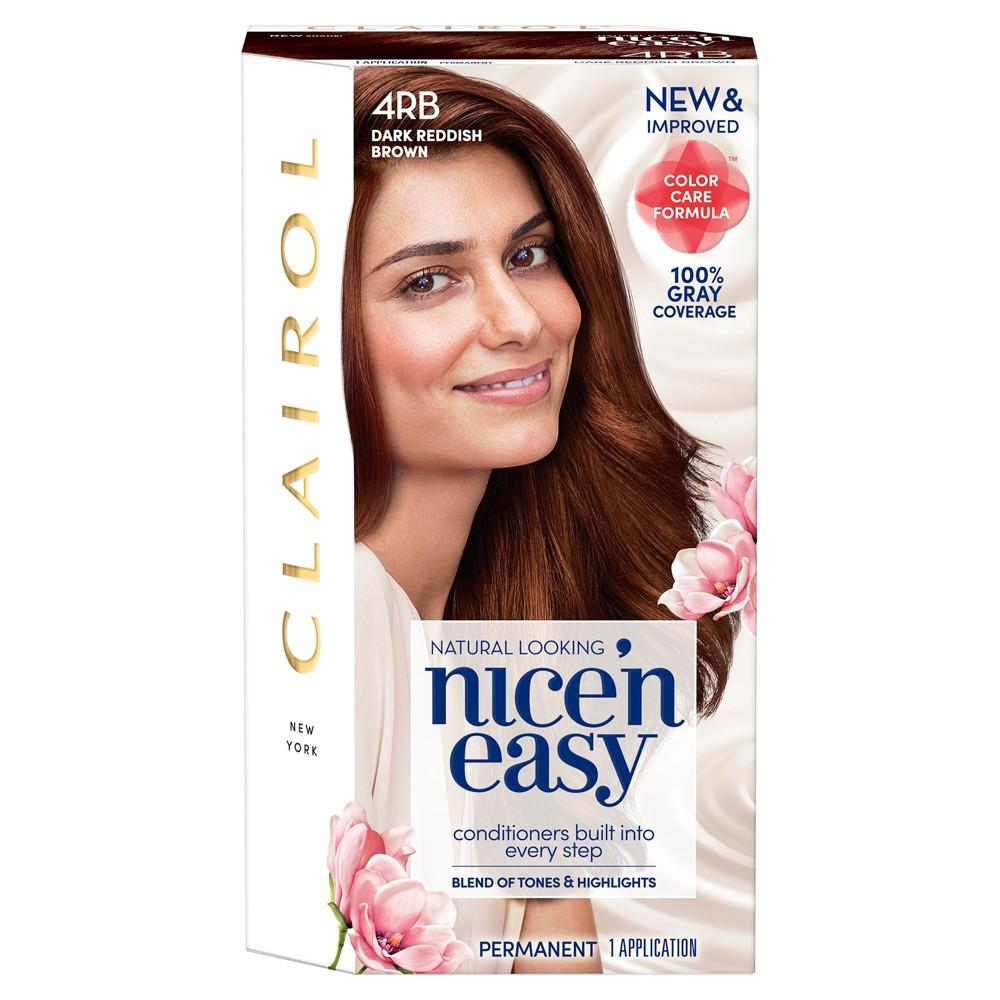 Image of Clairol Nice'N Easy 4RB Dark Reddish Brown Hair Color - 1 kit