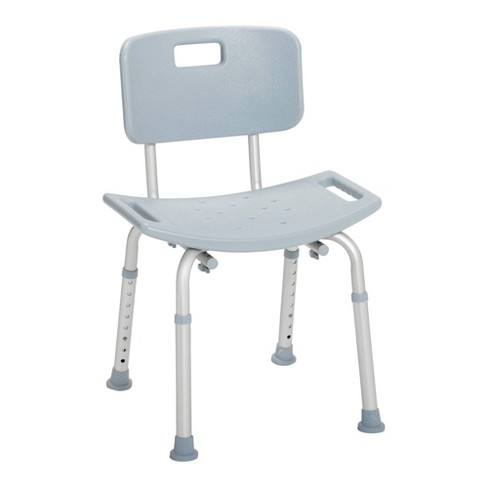 Drive Medical Bathroom Safety Shower Tub Bench Chair with Back, Gray - image 1 of 4
