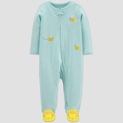Baby Girls' Bumble Bee One Piece Pajamas - Just One You® made by carter's Blue 9M