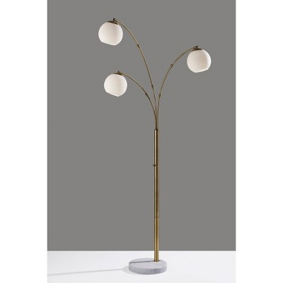 Remi Arc Lamp Antique Brass - Adesso