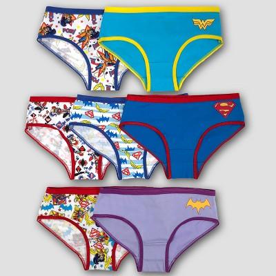 DC Comics Girls 3-Pack Batgirl Seamless Hipster Underwear