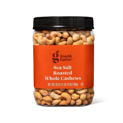 Sea Salt Roasted Whole Cashews - 30oz - Good & Gather™