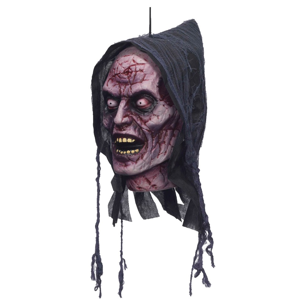Halloween Ghost Poly Foam Head Decor, Multi-Colored