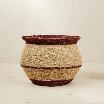 """10"""" x 14"""" Round Seagrass Decorative Basket Red - Opalhouse™ designed with Jungalow™"""