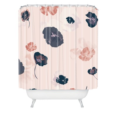 Khristian A Howell Mademoiselle In Pink Shower Curtain Pink - Deny Designs