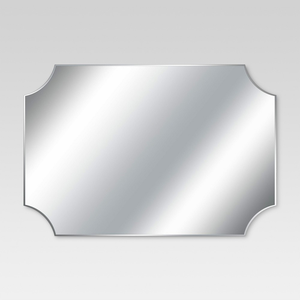 Rectangle Frameless Decorative Wall Mirror Silver - Threshold