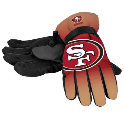 NFL San Francisco 49ers Big Logo Insulated Gloves - S/M