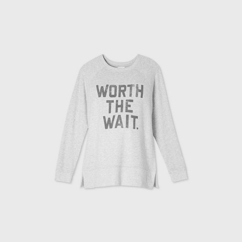 Maternity Worth the Wait Graphic Sweatshirt Isabel Maternity by Ingrid & Isabel™ Gray XS