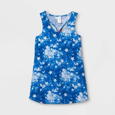Girls' Stars Tie-Dye Cover Up - Cat & Jack™ Blue
