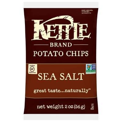 Kettle Café Sea Salt Potato Chips - 2oz