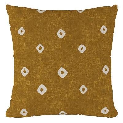 Ochre Print Throw Pillow - Cloth & Co