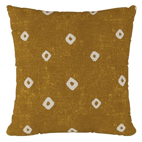 Ochre Print Throw Pillow - Cloth & Co - image 1 of 4