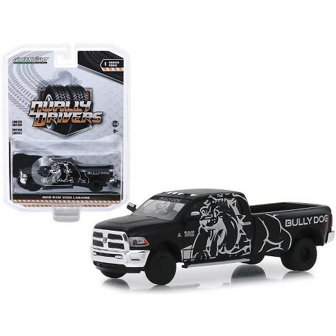 "2018 Dodge Ram 3500 Laramie Dually Pickup Truck ""Bully Dog"" Black ""Dually Drivers"" 1/64 Diecast Model Car by Greenlight - image 1 of 1"
