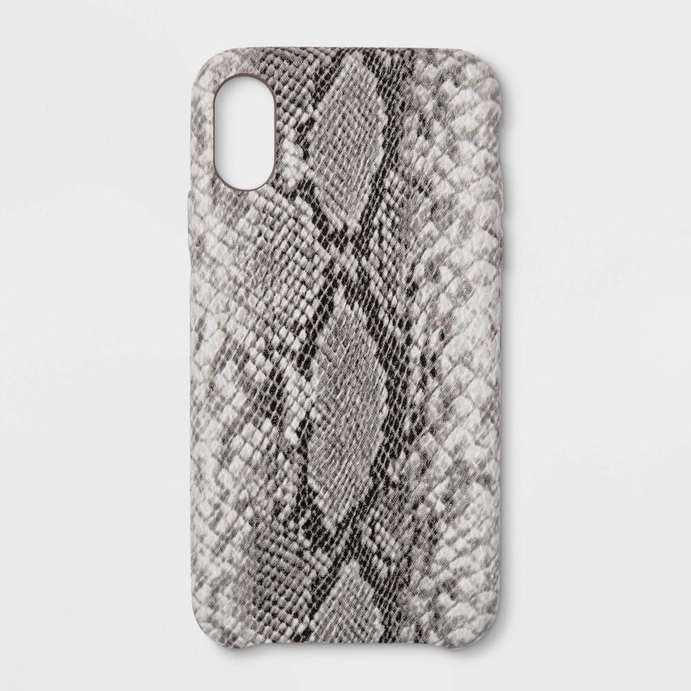 heyday Apple iPhone XR Snakeskin Case - Black/White, White Black
