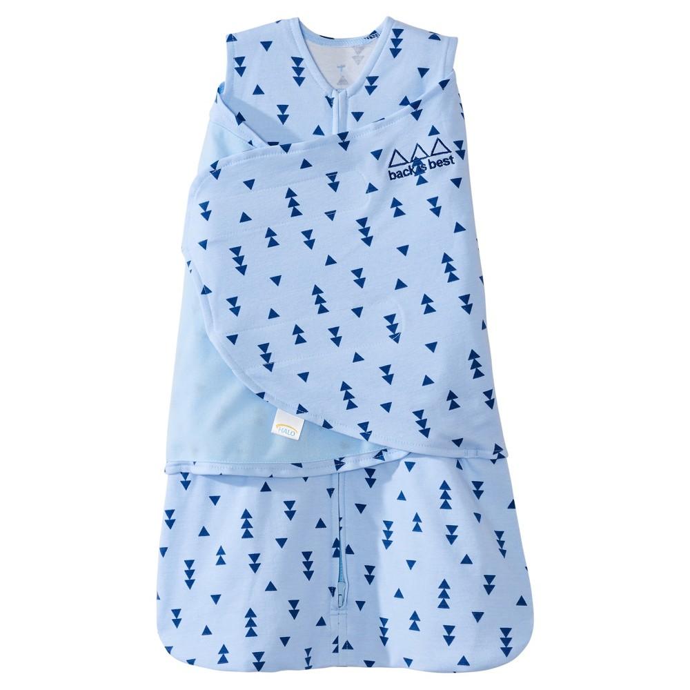 Halo SleepSack 100% Cotton Swaddle - Denim Blue Triangle
