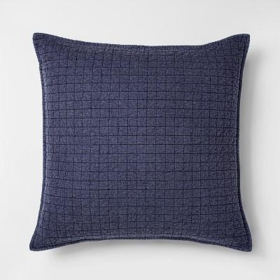 Oxford Blue Washed Linen Blend Sham (Euro)- Project 62™ + Nate Berkus™