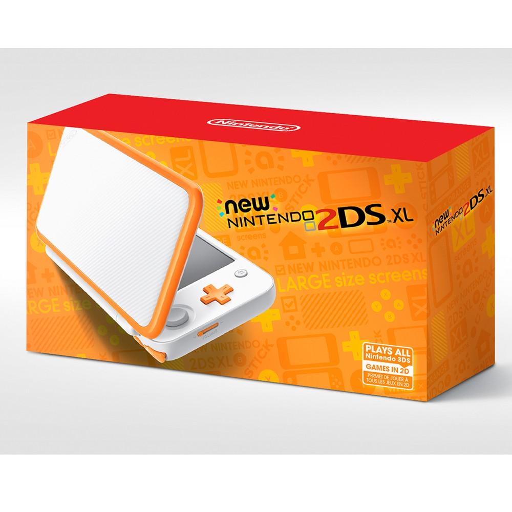 New Nintendo 2ds Xl Portable Gaming Console, White & Orange