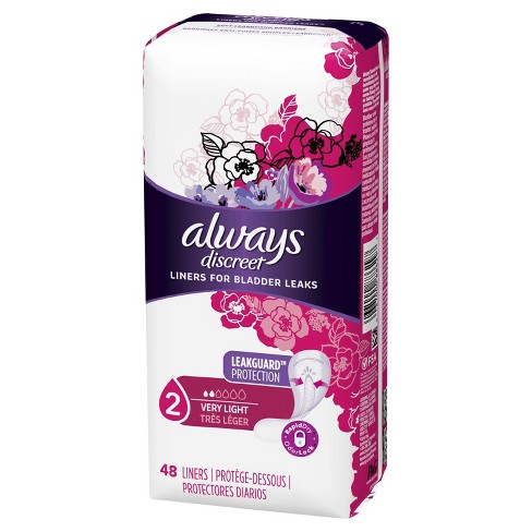 Always Discreet Incontinence Liners for Women - Very Light Absorbency - 48ct - image 1 of 4