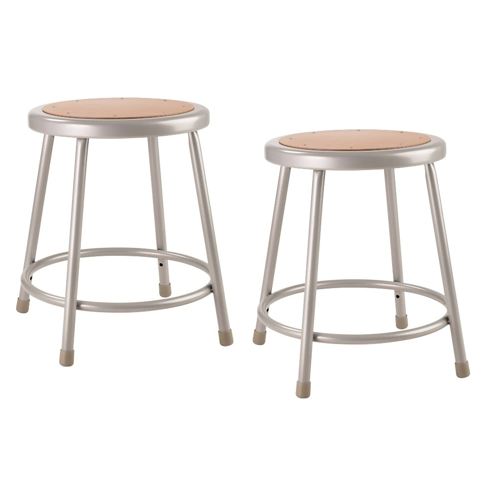 "Image of ""2pk 18"""" Heavy Duty Steel Stool Gray - Hampton Collection"""