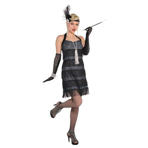 Women's Lace Flapper Halloween Costume - image 1 of 1