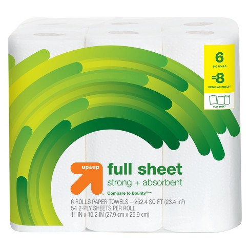 Full Sheet Paper Towels - Big Rolls - Up&Up™ (Compare to Bounty) - image 1 of 1