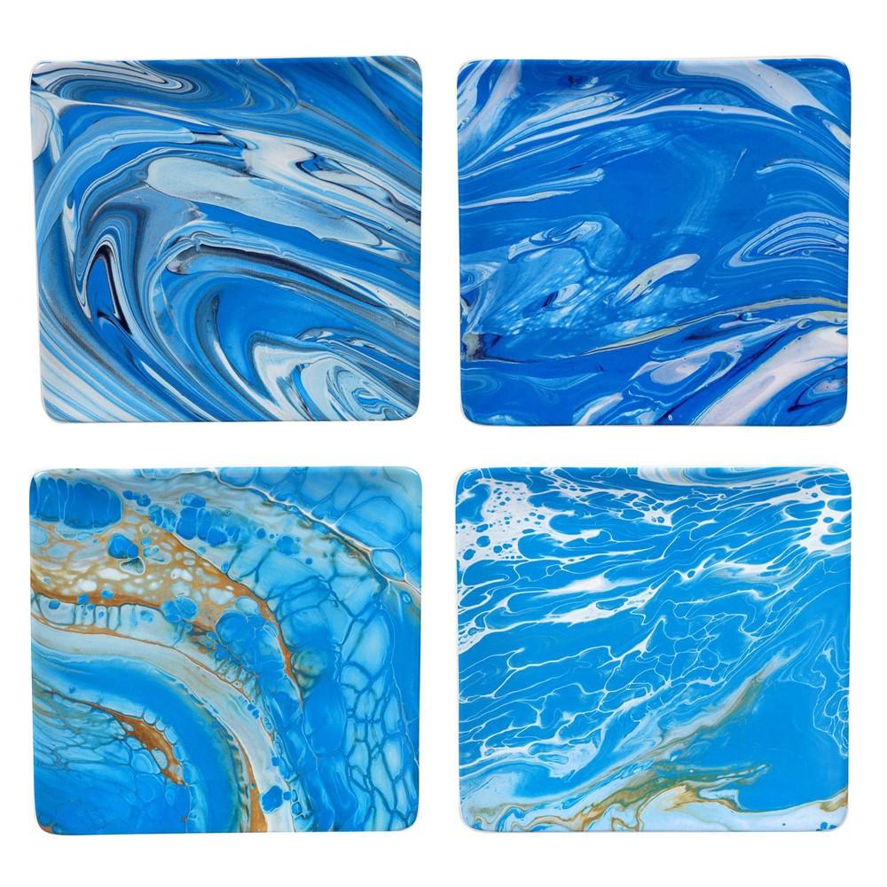 "Image of ""10.5"""" 4pk Earthenware Fluidity Dinner Plates - Certified International"""