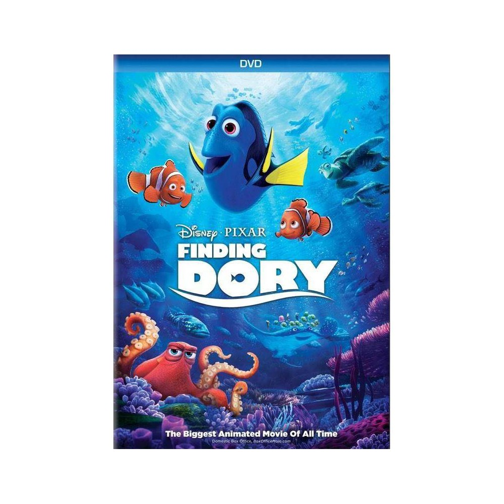Finding Dory (DVD), Movies Disney and Pixar's  Finding Dory  reunites everyone's favorite forgetful blue tang, Dory, with her friends Nemo and Marlin on a search for answers about her past. What can she remember? Who are her parents? And where did she learn to speak Whale? Gender: unisex.
