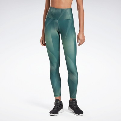 Reebok Lux Bold High-Rise Vector Block Tights Womens Athletic Leggings