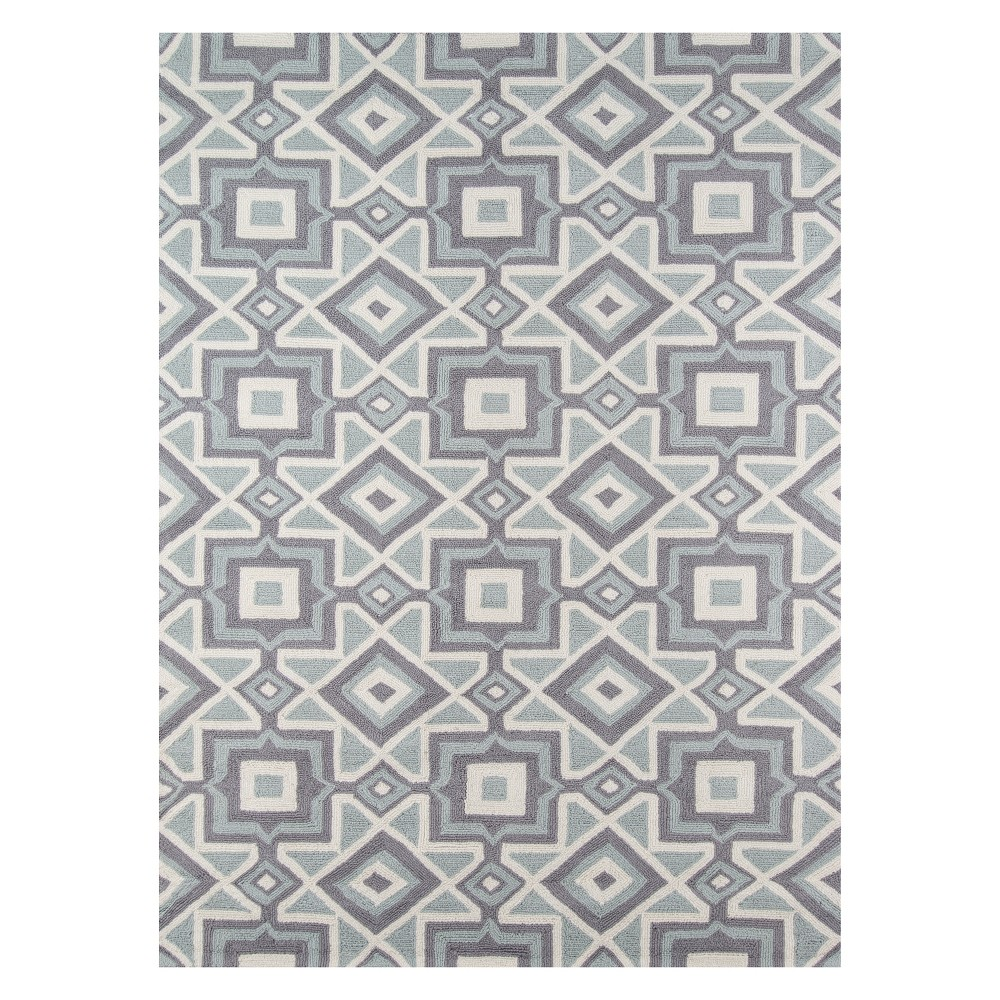 2'X3' Geometric Hooked Accent Rug Gray - Momeni