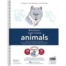 Pacon 40pg Learn to Draw Animals Instruction Pad