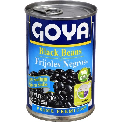 Beans: Goya Low Sodium Black Beans Canned