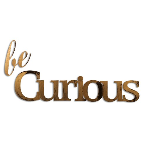 Letter2Word Hand Painted Be Curious 3D Wall Sculpture - Nickel - image 1 of 2