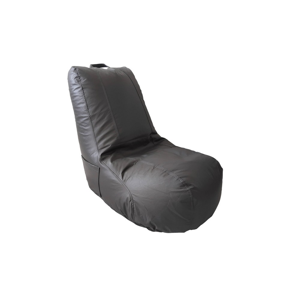 This Light gray Video Bean Bag Chair with ergonomic support is sure to be your childs new favorite seat in the house! The soft, luxurious faux leather bean bag is as beatiful as it is practical. Made with polystyrene beads and a double sewn cover, this seating solution is both comfortable and durable. The bean bag is resistant to tearing thanks to the sturdy construction. The backrest provides additional comfort, and the lightweight design with a sewn on handle makes this chair moveable throughout your home. Great for reading, watching tv, playing video games, movie nights, hanging out with friends or more general relaxation. No matter the activity, this seat provides support for one\\\'s back, which allows for hours of enjoyment. Designed for ultimate comfort with superior style, this chair is great for children, teens, and even adults. Whether placed in the living room, play room, basement, bedroom, or dorm room, this soft bean bag chair will be a great addition to your family\\\'s home. Pattern: Solid.