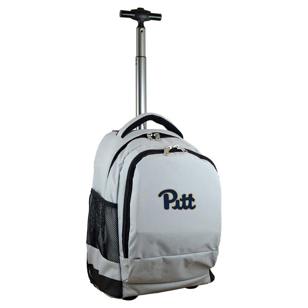 NCAA Pitt Panthers Gray Premium Wheeled Backpack